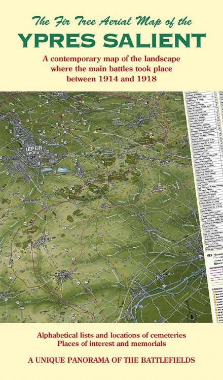 Fir Tree Map - WW1 - Ypres Salient - Passchendaele - Folded Map
